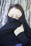 Moorish woman covered stock image