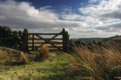 Moorland gate Stock Image