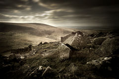 Moorland Landscape. A dark and moody Moorland landscape stock image