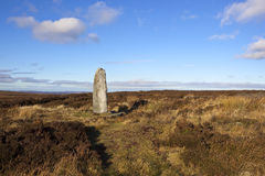 Moorland monolith Stock Photography