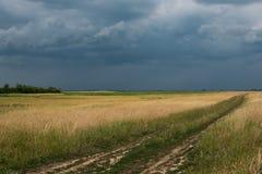 Moorland prima della tempesta immagine stock libera da diritti