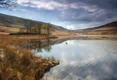 Moorland reservoir Stock Photo