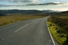 Moorland road Royalty Free Stock Photography