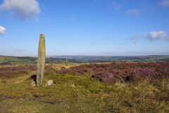 Moorland standing stone Royalty Free Stock Images