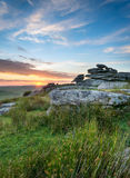 Moorland Sunset Stock Images
