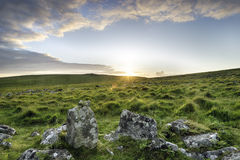 Moorland Sunset Royalty Free Stock Images