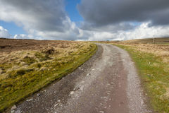 Moorland track. Royalty Free Stock Photo