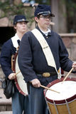 """Moorpark Civil War Reenactment 13. MOORPARK, CA - NOV 13: Mountain Fife and Drums perform at """"The Blue & The Gray"""" event on Nov 13, 2011 in Moorpark, CA. Its the Stock Photography"""