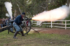 Moorpark Civil War Reenactment Stock Photo