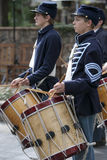 Moorpark Civil War Reenactment. MOORPARK, CA - NOV 13: Mountain Fife and Drums perform at The Blue & The Gray event on Nov 13, 2011 in Moorpark, CA. Its the Stock Photos