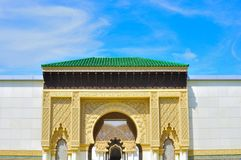 The moors arch. A beautiful moor architecture which originated from Morocco and Spain. This architecture is constructed at the Pavillion in Malaysia Royalty Free Stock Photo