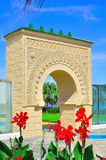 The moors arch. A beautiful moor architecture which originated from Morocco and Spain. This architecture is constructed at the Pavillion in Malaysia Stock Photography