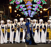 Moors & Christians Fiesta - Spain. Moros Cristianos (Moors & Christians) at the Fiesta de la Santisima Cruz in the town of Granja de Rocamora in the Costa Royalty Free Stock Image