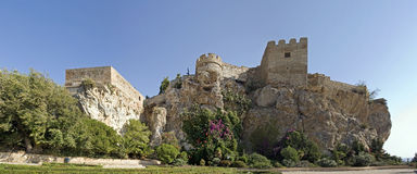 Moors kasteel, salobrena, Spanje stock fotografie