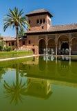 Moors paleis in Granada royalty-vrije stock fotografie