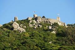 Moorse kasteel-Sintra Stock Afbeeldingen