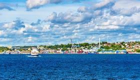 Moos - Horten-Fährüberfahrt Oslofjord - Norwegen stockfoto