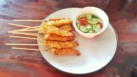 Moosatae Таиланд Азии еды еда тайского Стоковое Изображение