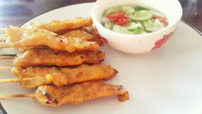 Moosatae Tailândia de Ásia do alimento alimento de tailandês fotografia de stock royalty free