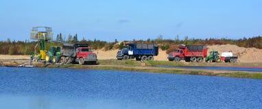 Moosbeerbauernhof-Wasserwirtschaftsernten lizenzfreie stockbilder