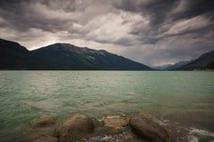 Moose湖,北部汤普森,不列颠哥伦比亚省,加拿大 图库摄影
