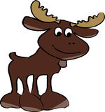 Moose. Cute Cartoon Moose done in illustrator Royalty Free Stock Image