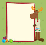 Moose Banner. Cute holiday moose with a decorative banner. Eps10 Stock Images