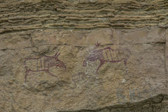 Moose couple Pictograph Stock Images