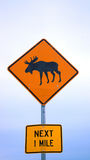 Moose crossing. Sign Royalty Free Stock Image