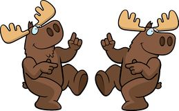 Moose Dancing stock illustration