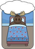 Moose Dreaming Stock Images