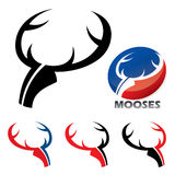 Moose emblems Stock Photography