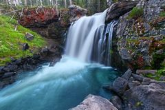 Moose Falls Yellowstone National Park Royalty Free Stock Photo
