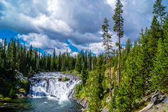 Moose Falls, Yellowstone National Park Stock Photography