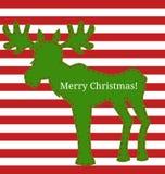 Moose greeting card Royalty Free Stock Photos
