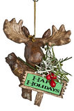 Moose head christmas ornament Royalty Free Stock Photography