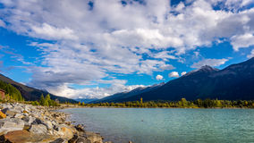 Moose Lake in Mount Robson Provincial Park royalty free stock images