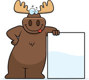 Moose Leaning Stock Images