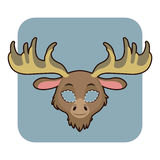 Moose mask for various festivities, parties. Activities Royalty Free Stock Photo