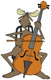Moose playing a cello Royalty Free Stock Photo