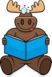 Moose Reading Royalty Free Stock Image