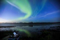 Moose river Aurora Royalty Free Stock Images
