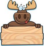 Moose Sign Stock Photos