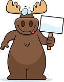 Moose Sign Stock Photography