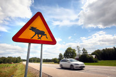 Moose Sign Stock Image