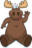 Moose Sitting vector illustration
