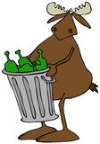 Moose taking out the garbage Stock Photography