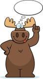 Moose Thinking Stock Photography