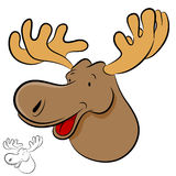 Moose Wild Animal. An image of a moose wild animal cartoon Royalty Free Stock Images