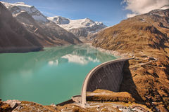 Mooserboden high altitude reservoir, near Kaprun - Zell am See, Austria Stock Photo
